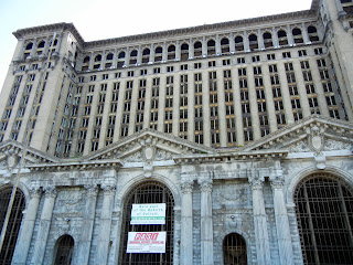Grand Central Station in downtown Detroit, Michigan