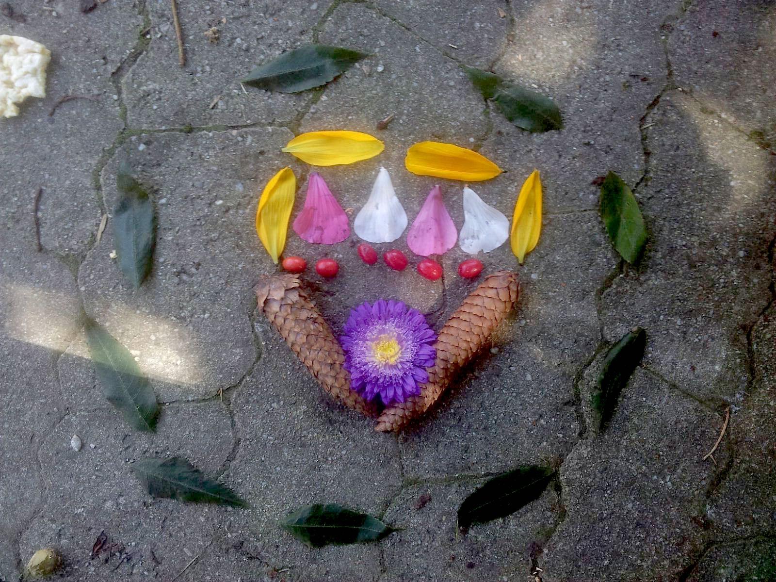 Mandala with flowers, Amperhof