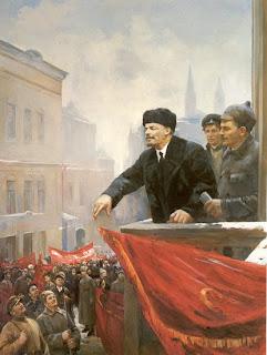 Ocho pinturas sobre Lenin en vísperas del aniversario de su muerte  Discurso+de+lenin+desde+el+balcon+del+ayuntamiento.+Nalbandian