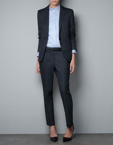 Blazer o americana con raya diplomática Zara otoño/invierno 2012.