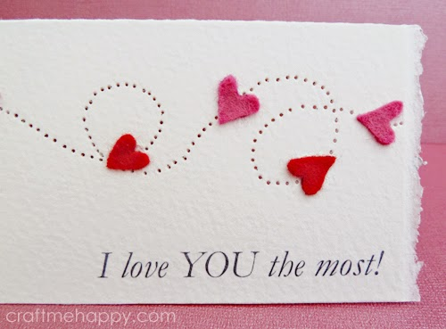 Paper Pierced Valentines Card – Print Your Own Valentines Card