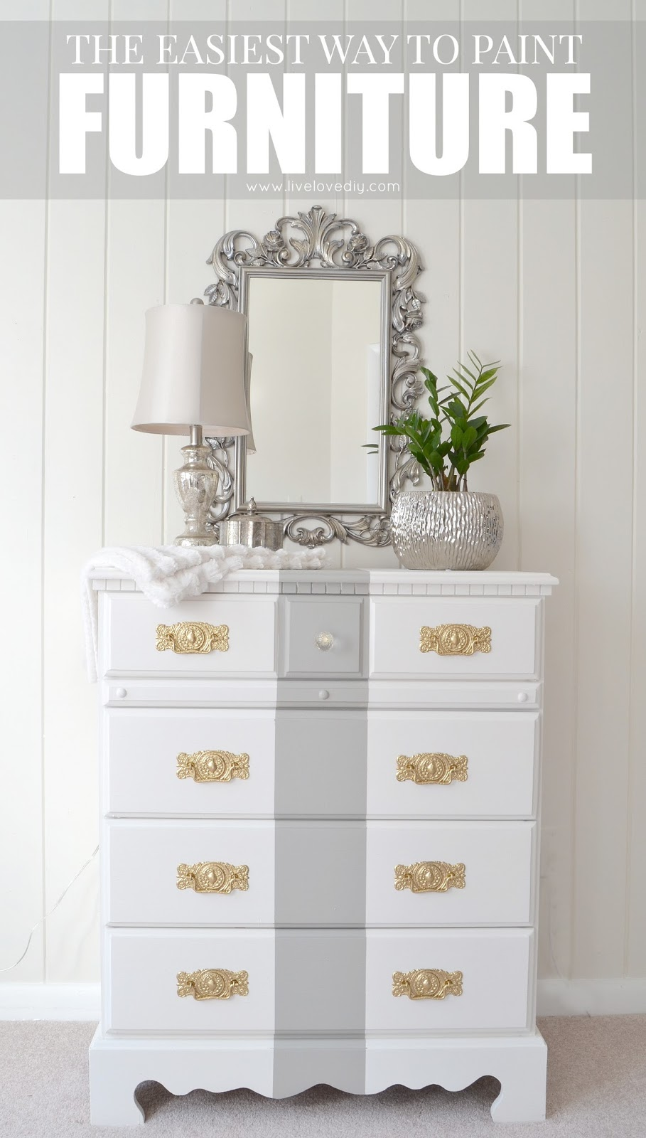 How To Paint Furniture. This is such a great tutorial for beginners! Love this!
