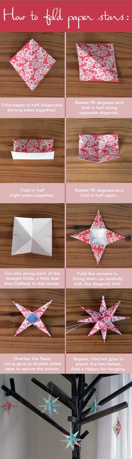 diy estrella en origami