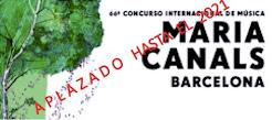 66º CONCURSO INTERNACIONAL DE MÚSICA MARIA CANALS BARCELONA