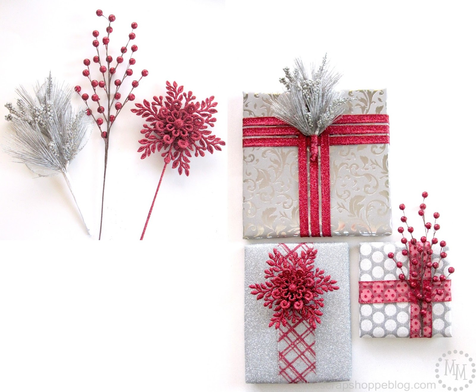 faux wrapped presents decorations