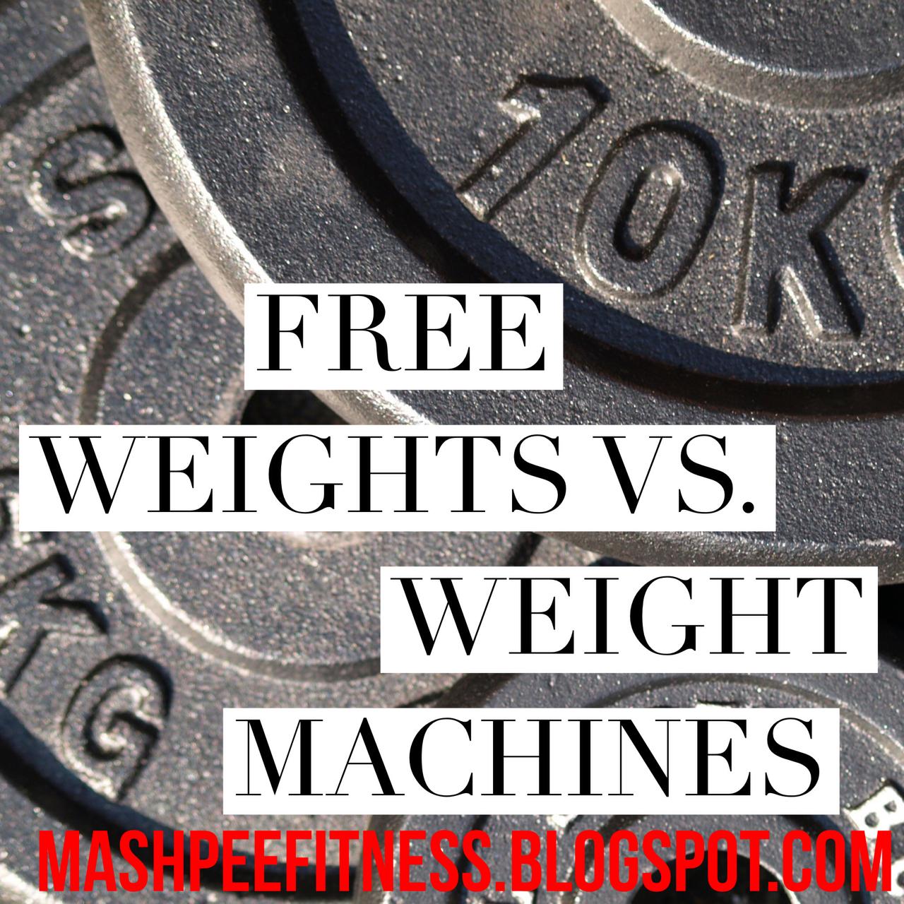 free weights vs machines weights essay Weight machines - pros and cons of machines and free weights.