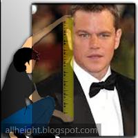 Matt Damon Height - How Tall