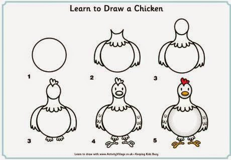 Learn to draw  a chicken for kids