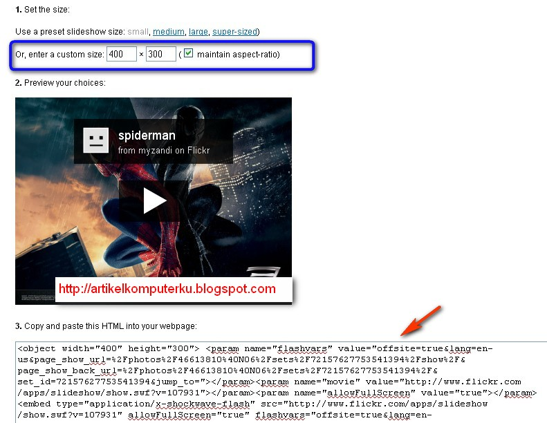 image slideshow hosting