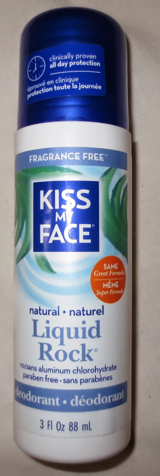 Kiss My Face Liquid Rock Roll-On-Fragrance Free