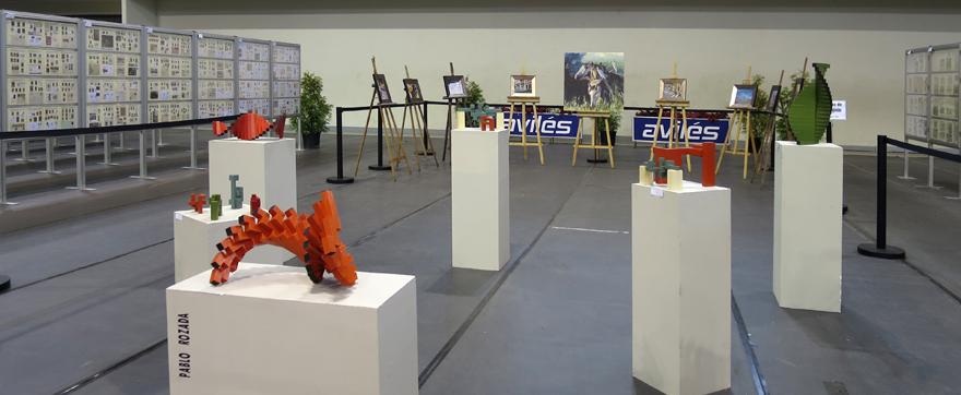 Escultura y pintura en la EXFILNA de Avilés