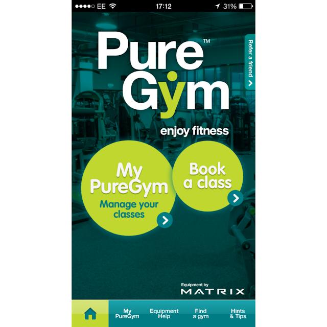 Pure Gym App