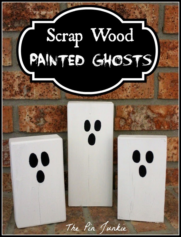 Halloween Scrap Wood Painted Ghosts