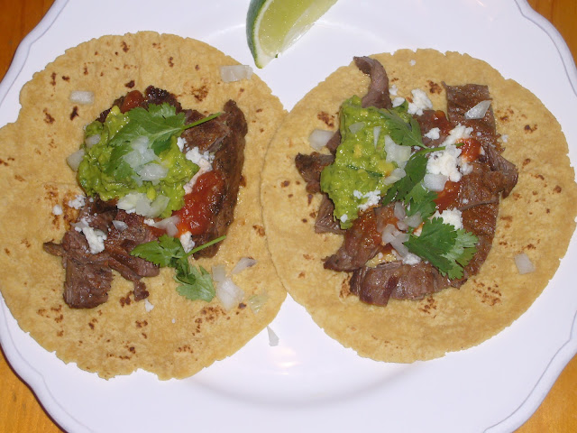Grilled Skirt Steak Tacos