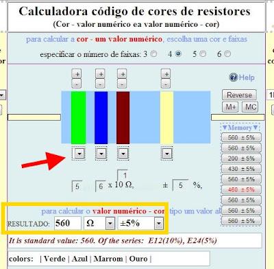 calculador online resistores