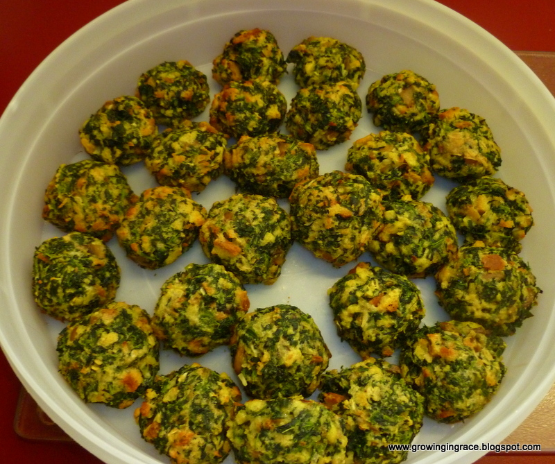 Growing in Grace: Stove Top Spinach Balls