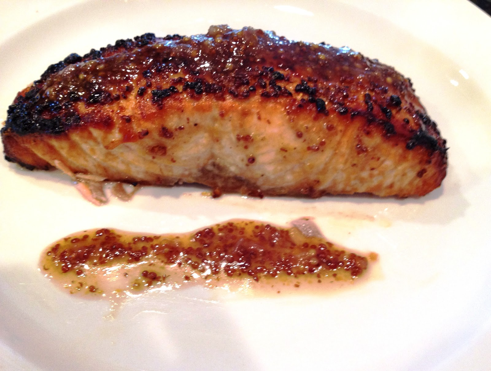 Lex's Life as a New Wife: Salmon with Brown Sugar and Mustard Glaze