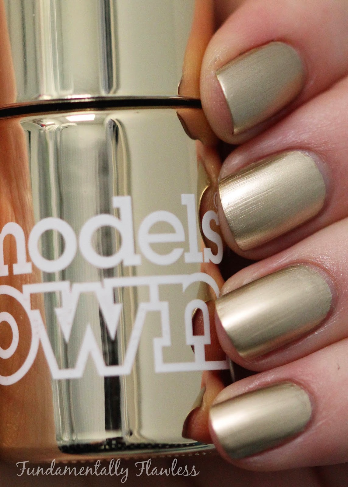 Models Own Colour Chrome Collection Gold Swatch