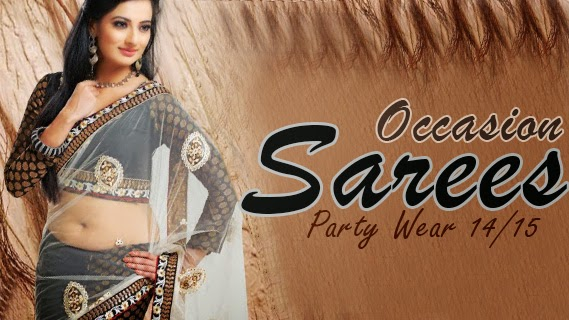 Mehndi Party Saree : Occasion sarees  new saree collection for party wear
