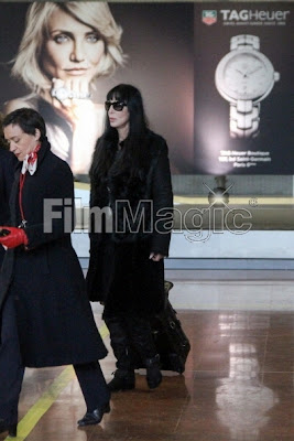 Cher at Paris airport, 25 February 2013