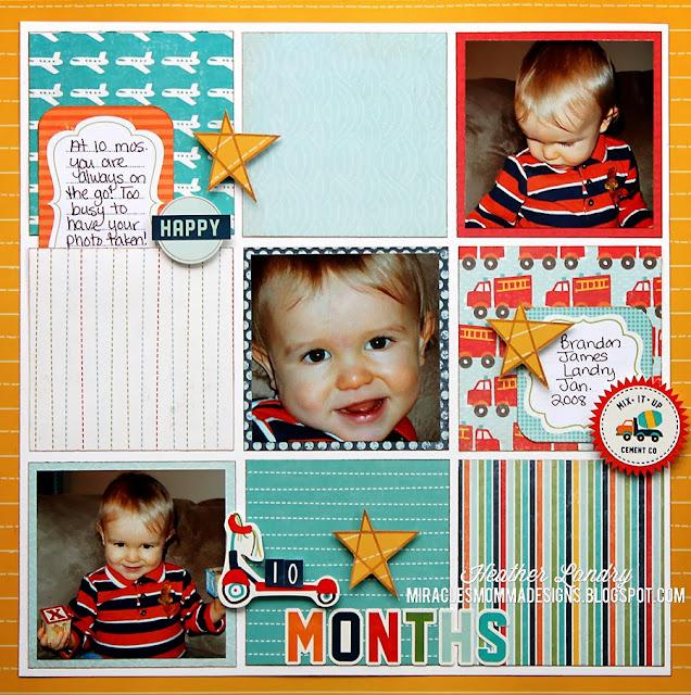 Little Boy_10 Months_Scrapbook Page_Grid