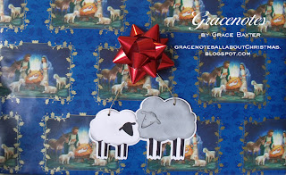 Christmas sheep large gift tag
