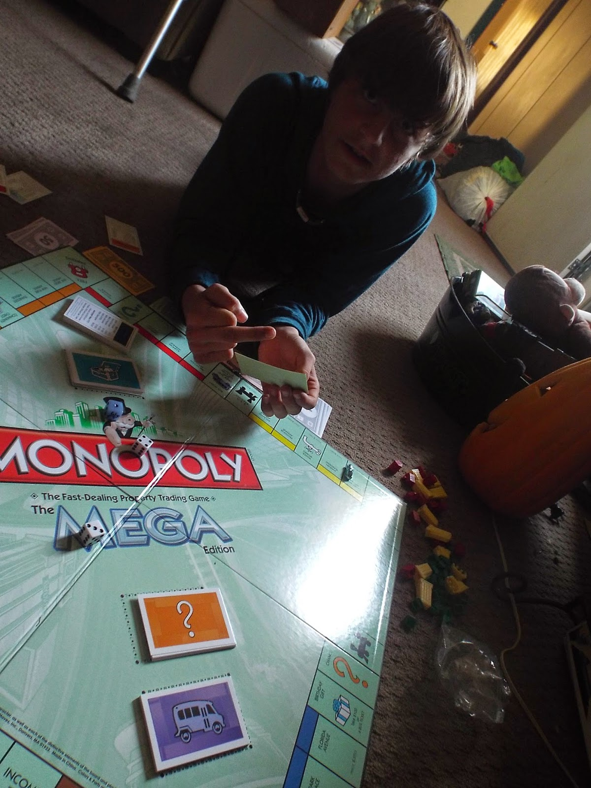 Cody playing Monopoly