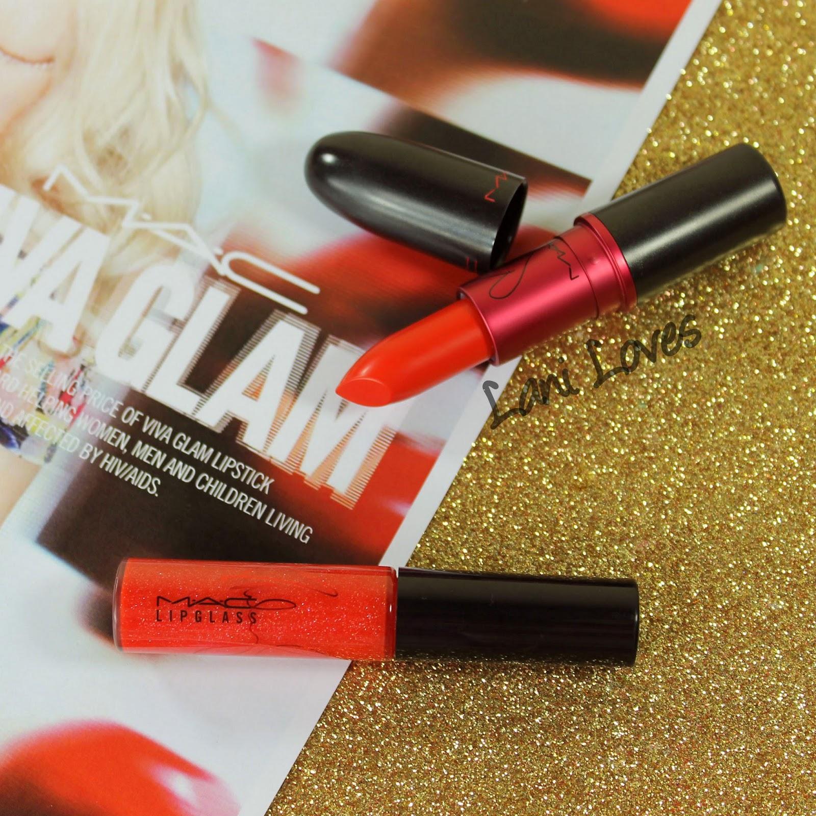 MAC Viva Glam Miley Cyrus 1 & 2 Lipstick and Lipglass ...