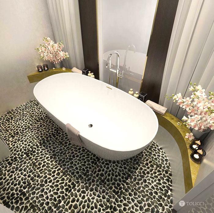حمام أنيق و مرتب