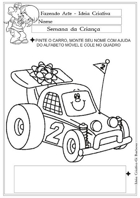 Brincando com o Alfabeto Móvel Semana da Criança O Carro.