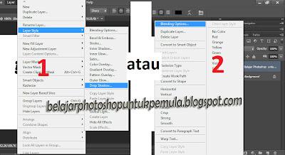 cara memberi efek bayangan pada tulisan di photoshop, tutorial photoshop, belajar photoshop untuk pemula
