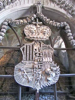 Schwarzenberg Coat of Arms in Human Bones   - Kostnice Ossuary, Sedlec, Czech Republic