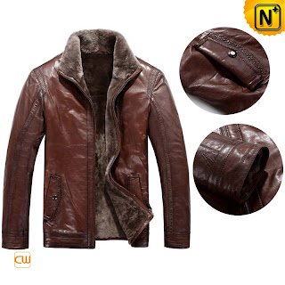 Brown Sheepskin Jackets for Men
