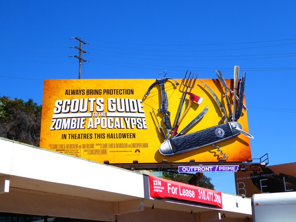 Special Scouts Guide to the Zombie Apocalypse billboard