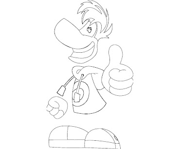 #4 Rayman Coloring Page