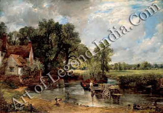"""The Hay Wain"" 1821 51 1/4,"" x 73"" National Gallery"