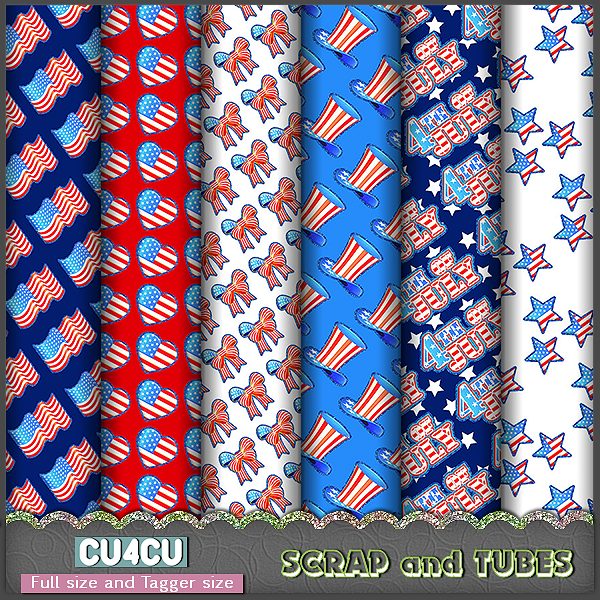Patriotic Papers (FS/TS/CU4CU) .Patriotic+Papers_Preview_Scrap+and+Tubes