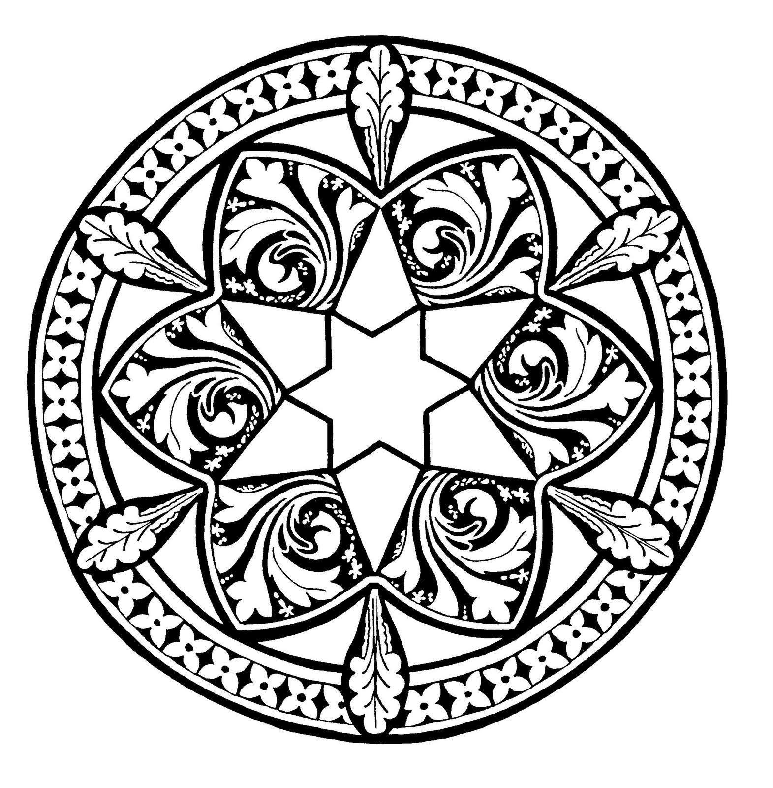 Dorable Páginas Geométricas Para Colorear Estrella Colección ...