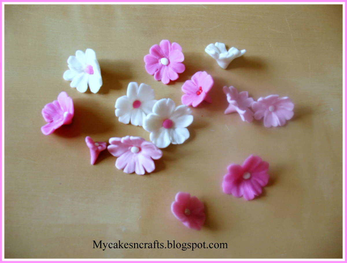 My cakes n crafts cake topper fondant gum paste sugar paste modelling clay cherry blossoms cake topper izmirmasajfo
