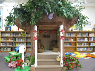 treehouse in library