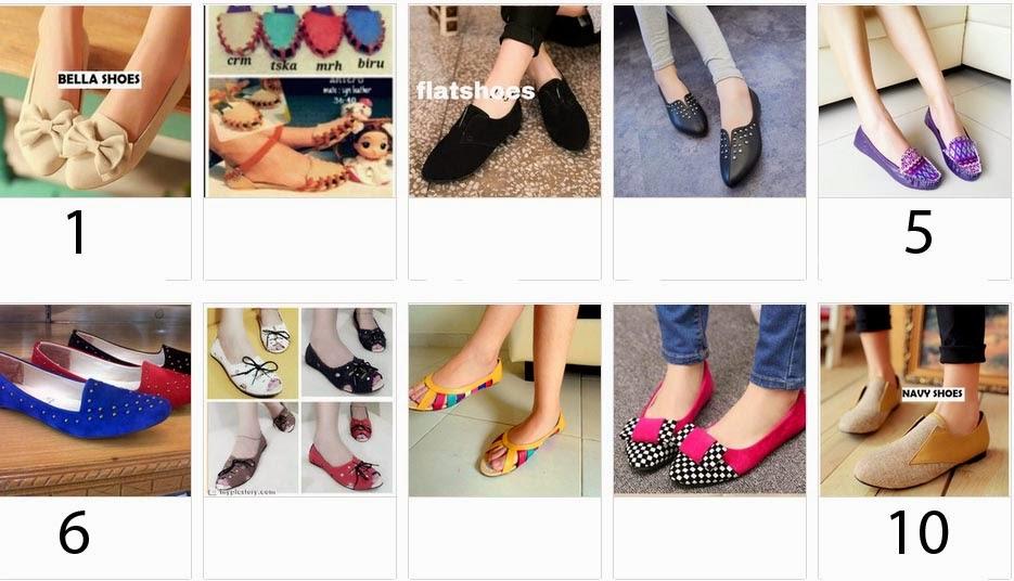 sepatu flat shoes cantik murah