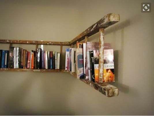 rak buku dari tangga