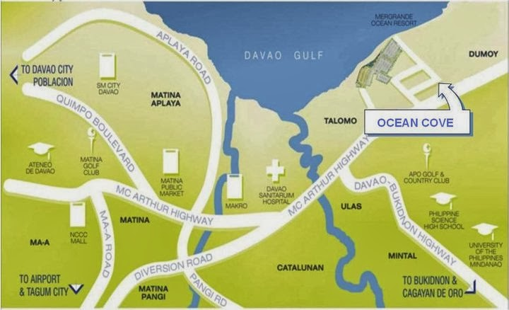 Ocean Cove - Talomo, Davao City - Location Map