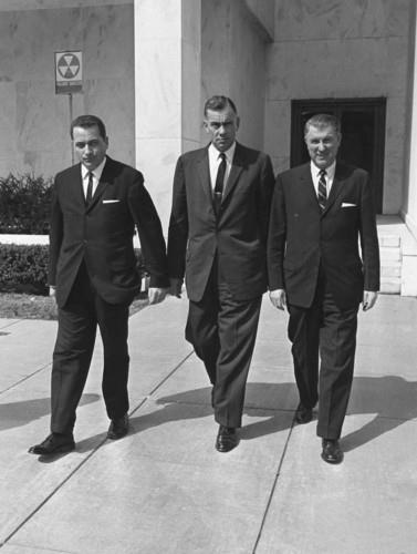 MARCH 1964: HILL, KELLERMAN, & SMILING GREER AFTER THEIR WARREN COMMISSION TESTIMONY