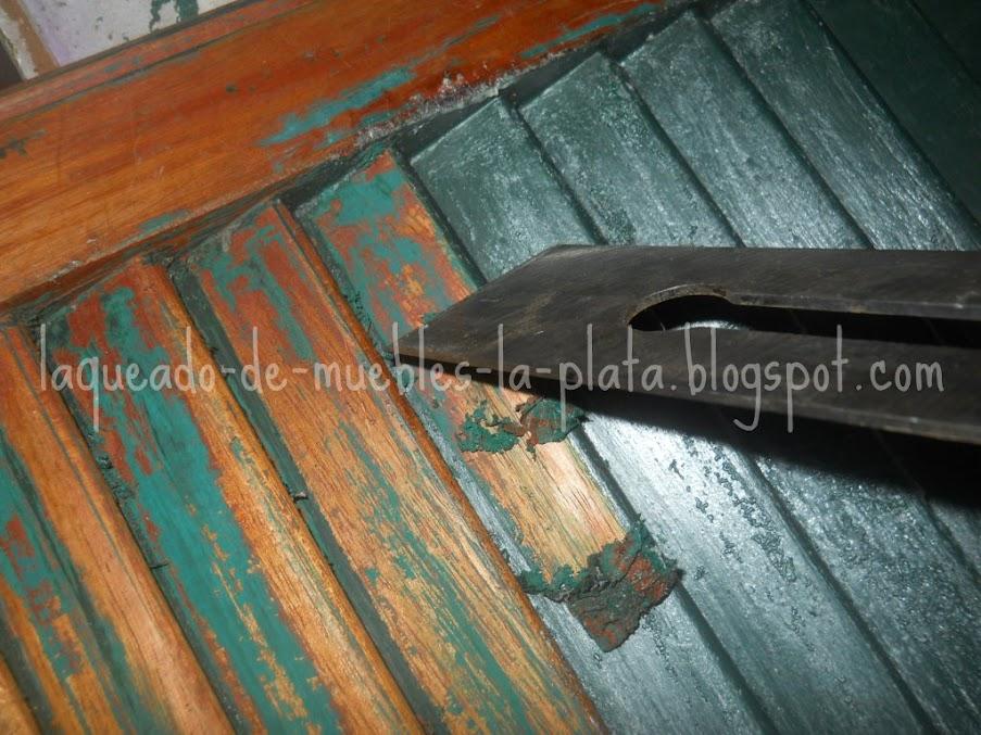 Decapado con removedor como quitar la pintura de muebles for Quitar cera de muebles envejecidos