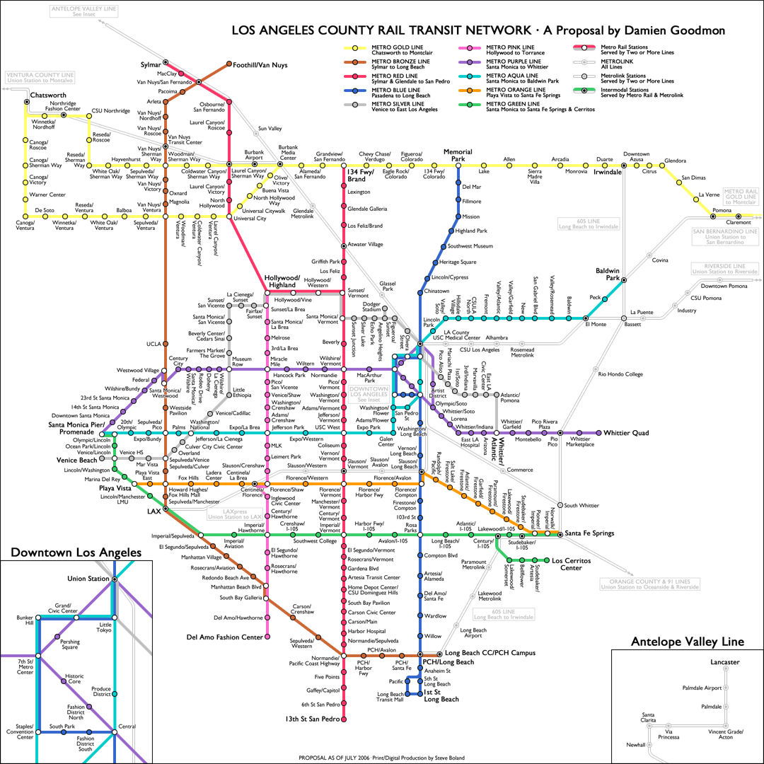 News Tourism World Map Of Los Angeles Underground Pictures