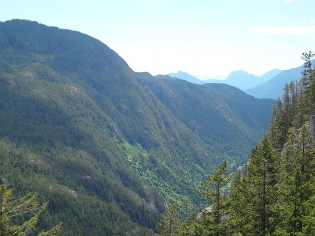 views from chief trail in squamish