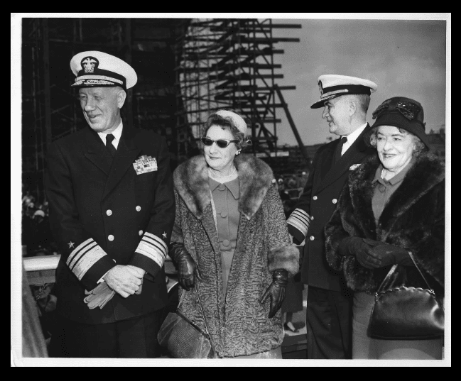 Admiral and Mrs. Roy A. Gano and unknown couple. (Family photo)