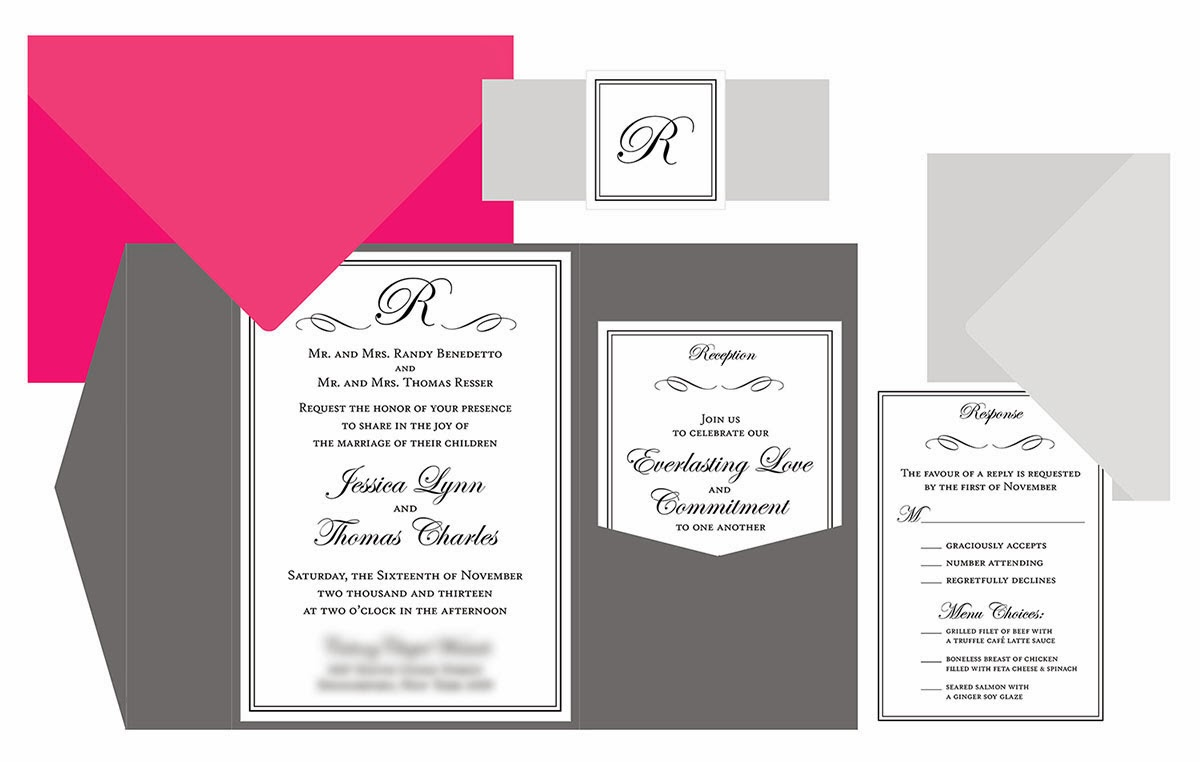 Sohl Design Pocket Wedding Invitation