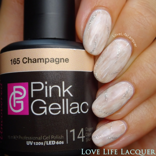 Pink Gellac Uncovered1 Dry Brush Nail Art